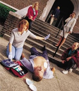 Bystander with AED
